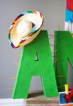 Cactus Letter from a Cinco de Mayo Themed Birthday Party via Kara's Party Ideas KarasPartyIdeas.com (13)