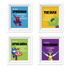 Superhero Bathroom Decor KIds Bathroom by SimplyLoveCreations