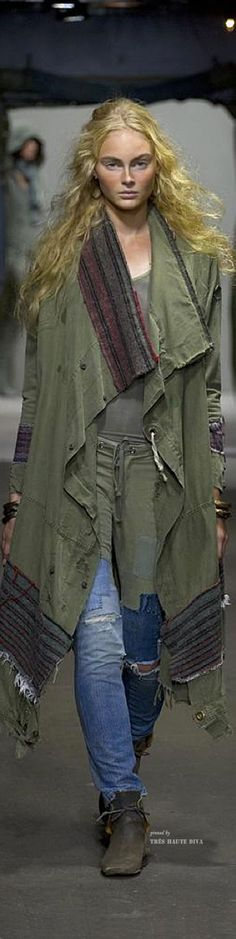 Greg Lauren..this looks like an old duffle bag for the jacket and jeans legs added to old khakis.