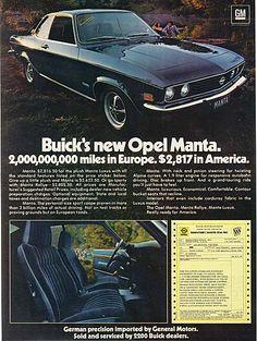 General Motors with Buick / Opel Manta ad