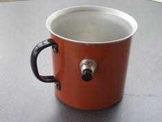alter DDR Milchtopf mit Pfeife, Pfeifentopf, Milchkocher Alutopf Doppelwandig