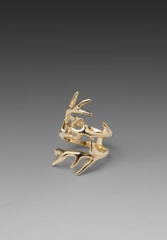 HOUSE OF HARLOW Antler Wrap Ring in Gold at Revolve Clothing - Free Shipping!