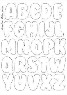 Molde das letras do alfabeto para peças em feltro (maiúsculas) …