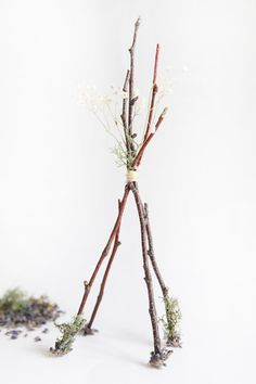 DIY Twig Tabletop Teepees