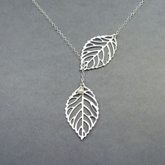 Double Leaf Necklace Leaf