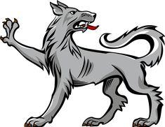 Wolf passant regardant