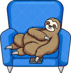 Sloth Sleeping On Tree Branch Cartoon Vector Clipart - FriendlyStock Sloth Sleeping, Cartoon Tv, Vector Clipart, Take A Nap, Tree Branches, Royalty, Clip Art, Illustration, Fictional Characters
