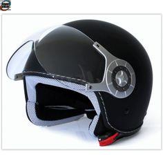 Retro halv hjelm Sort Helmet, Retro, Hockey Helmet, Retro Illustration, Mid Century