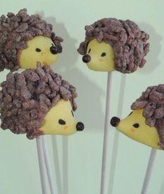 Hedgehog cakepop- great for parties