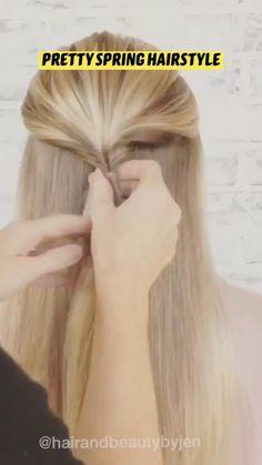 Braided Hairstyles Tutorials, Easy Hairstyles For Long Hair, Braids For Long Hair, Bride Hairstyles, Hair Up Styles, Natural Hair Styles, Hair Styler, Hair Videos, Hair Hacks