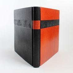 Pyhät kuvat kalliossa (a book about Finnish rock paintings) fine binding by Kaija Rantakari in 2008 / paperiaarre.com