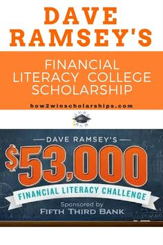 Dave Ramsey Financial Literacy College Scholarship Contest: How does a $36,000 college scholarship sound? $5000? $2500? How about a free Chromebook 2?