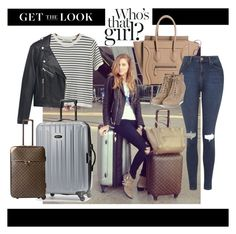 """""""Get the Chiara's Look!"""" by yulia-osipyants ❤ liked on Polyvore featuring Chicnova Fashion, MANGO, Samsonite, Louis Vuitton, Topshop and celebairportstyle"""