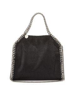 Falabella Mini Tote Bag, Black by Stella McCartney at Neiman Marcus.