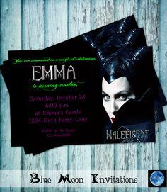 Maleficent Birthday Party Invitation  by BlueMoonInvitations, $5.50