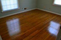 No sanding or refinishing was required for restoring hardwood floors under carpet. These hardwood floors just needed to be polished and restored. Parquet Flooring, Hardwood Floors, Ripping Up Carpet, Do It Yourself Projects, Home Repair, Restore, Diys, Restoration, Merry
