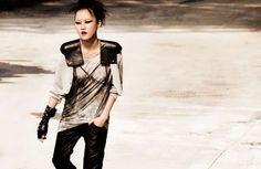 Urban warrior sci fi style. Model: Hyoni Kang. Korean magazine Dazed & Confused.