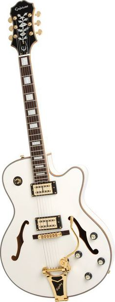Epiphone Limited Edition Emperor Swingster Royale Electric Guitar Pearl White Pearl White