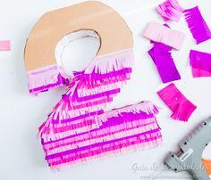 Números de cartón y papel para fiestas DIY