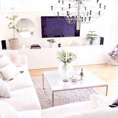 white peaceful living room
