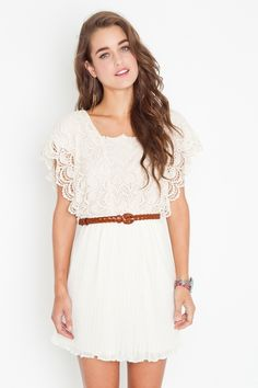 White lace dress<3