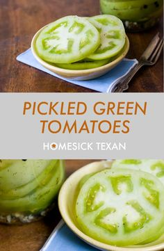 Pickled green tomatoes, a tangy, crunchy way to use your green tomatoes that's excellent on sandwiches and burgers Canning Green Tomatoes, Pickled Green Tomatoes, Canning Vegetables, Preserving Tomatoes, Raw Vegetables, Preserving Food, Green Tomato Recipes, Vegetable Recipes, Vegetable Sides