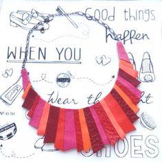 (genuine leather statement necklace) colier_piele_sashaccessories_L203 Handmade Accessories, Necklaces, Leather, Chain, Collar Necklace, Wedding Necklaces