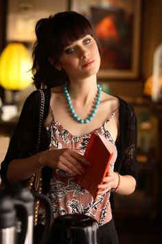 "Zooey. Love her style. Whenever I see her, I think, ""What the hell kind of devil-bird chirps at night?"" :)"