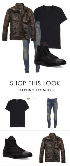 """""""School outfit for dudes"""" by juliodauntless on Polyvore featuring Aéropostale, Scotch & Soda, Converse, men's fashion and menswear"""