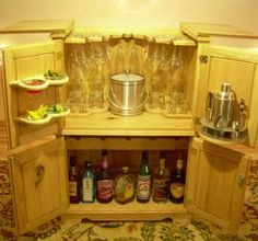 Liquor Cabinets - Vertical, Free-Standing, Locking | For the Home ...