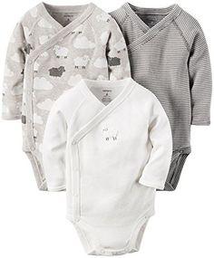 Carter's Unisex Baby Multi-Pk Bodysuits 126g381, Assorted, 3M
