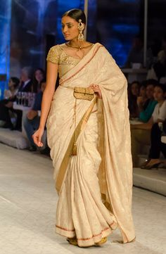 I spy...a zardosi fanny pack! But I like the net detailing on the blouse. Delhi Style Blog: JJ Valaya India Bridal Fashion Week 2013 The Maharaja of Madrid