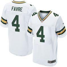 Brett #Favre Green Bay #Packers Men's Elite White #Jersey Nike NFL #4 Road #nfljersey #cheapjersey