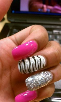 girly girl nails....just not this long for me.