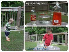 oyveyaday.com Homemade bubbles