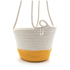 Hanging Planter Yellow After Hours, Cotton Rope, Hanging Planters, Sale Items, In The Heights, Straw Bag, Yellow, Garden Box Raised, Hanging Air Plants