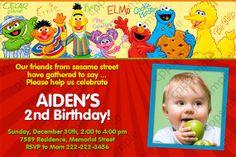Sesame Street Birthday Party Invitation  by CreativePartyPixels, $8.00