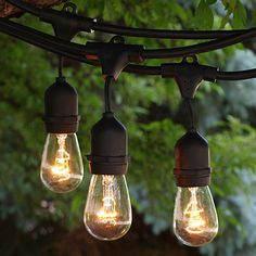 Garden String Lights Stunning Amazon Vintage Metro String Lights Black 50H X 3W X 3D Review