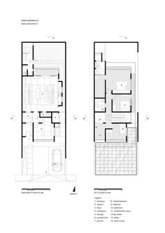 Small Narrow House Plans | 66 Best Narrow House Plans Images Home Plans Terraced House Two