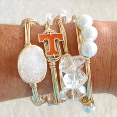 Tennessee gameday bangles Tennessee Game, Tennessee Girls, Tennessee Football, College Game Days, Football Outfits, Belly Rings, Sweet Tea, Anklets, Autumn Fashion