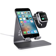 Bestand 2 in 1 Phone Desktop Tablet Stand & Apple Watch Charging Stand Holder for Apple iWatch/ iPhone/ ipad (Space Grey) - Intl Apple Watch Iphone, Apple Watch Nike, Apple Watch Bands, Ipad Stand, Tablet Stand, Stand 21, Support Iphone, Apple Watch Charging Stand, Support Telephone