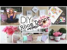 DIY Spring Room Decor - Those dip-dye pots are adorable!!