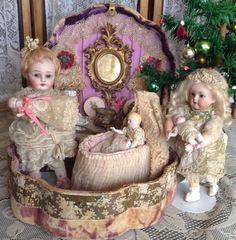 Dolls in presetation case
