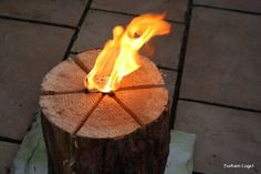 """Vertical campfire? Try our Swedish Logs Candle's - just insert a  fire lighter,few dry twigs onto the top of the log and light. A 2ft x 12"""" diameter log will have a burn time of approx two hours.A great idea for campfires or driveway torches ,keep bugs at bay great for Christmas Halloween and Bonfire night."""