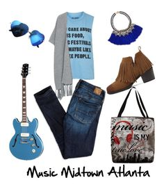 """""""Music midtown Atlanta"""" by akshprem on Polyvore featuring Topshop, Carolee, Violeta by Mango and American Eagle Outfitters"""