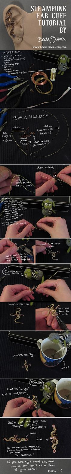 STEAMPUNK EAR CUFF TUTORIAL by *bodaszilvia on deviantART