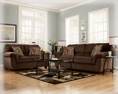 Paint for brown furniture Leather Brown Couch With Pale Blue Grayish Walls Room Wall Colors Paint Colors For Living Room Pinterest 147 Best Dark Brown Furniture Images In 2019