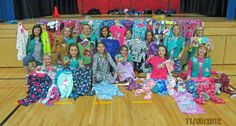 bronze award idea - pajama party with donations for charity (new pajamas and Fundie Undies for Children's Hospital)