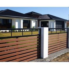 Modern Fence Concrete Home Design Outdoors Pinterest