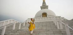 Lumbini, Nepal is home to the stunning World Peace Pagoda. Considered the birthplace of Buddha is home to numerous shrines, temples and monasteries.
